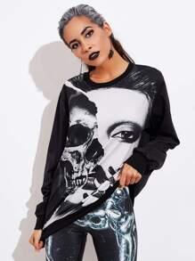 Halloween Skull Sweatshirt