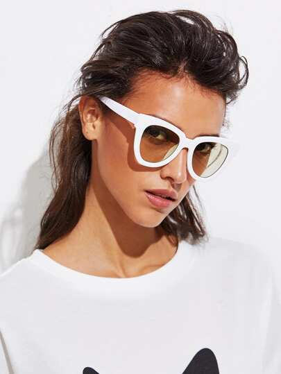 Chunky Frame Cat Eye Sunglasses