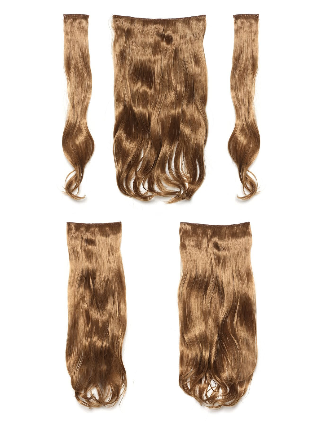 Mix Auburn Clip In Soft Wave Hair Extension 5pcs jet black clip in soft wave hair extension 5pcs