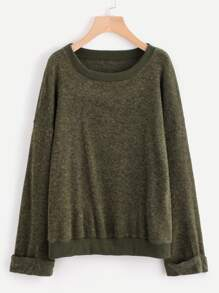 Rolled Cuff Shift Sweater