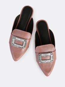 Point Toe Diamond Slides MAUVE