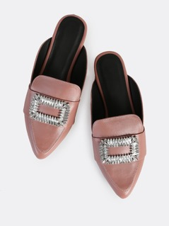 Point Toe Diamond Slides MAUVE