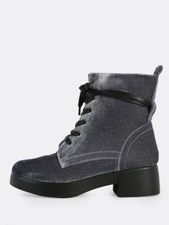 Velvet Ankle Boots GREY