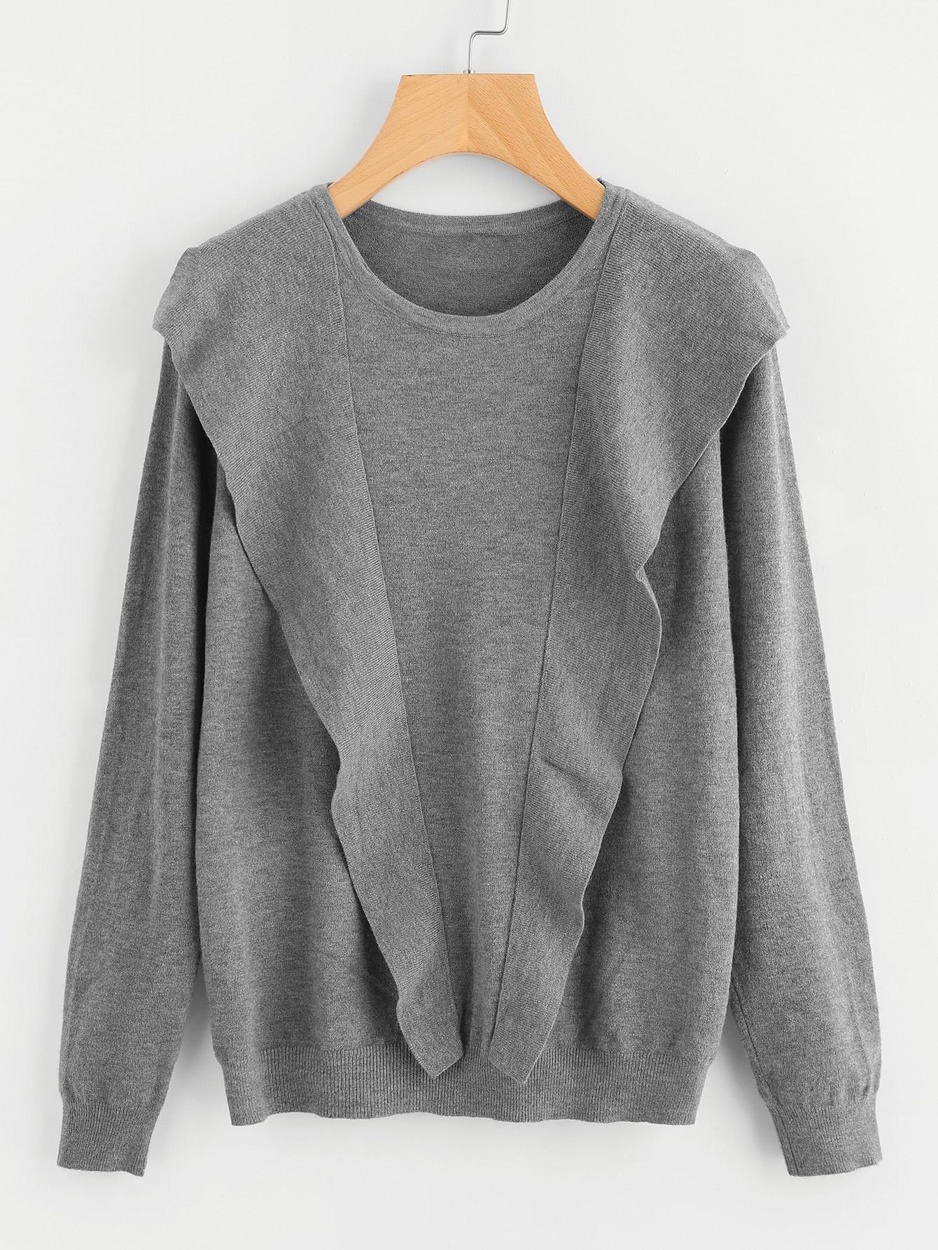 Frill Trim Knitwear sweater170728403