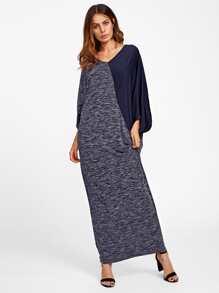 Cut And Sew Space Dye Dolman Sleeve Dress