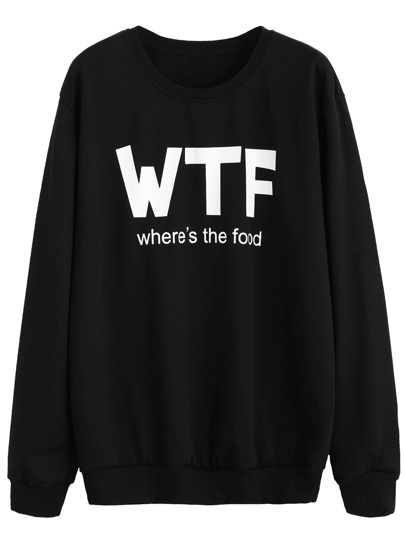 Sweat-shirt imprimé slogan