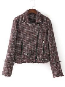 Blouson en tweed avec le zip