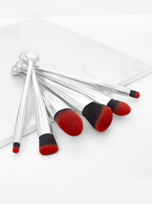 Shell Detail Makeup Brush 6pcs