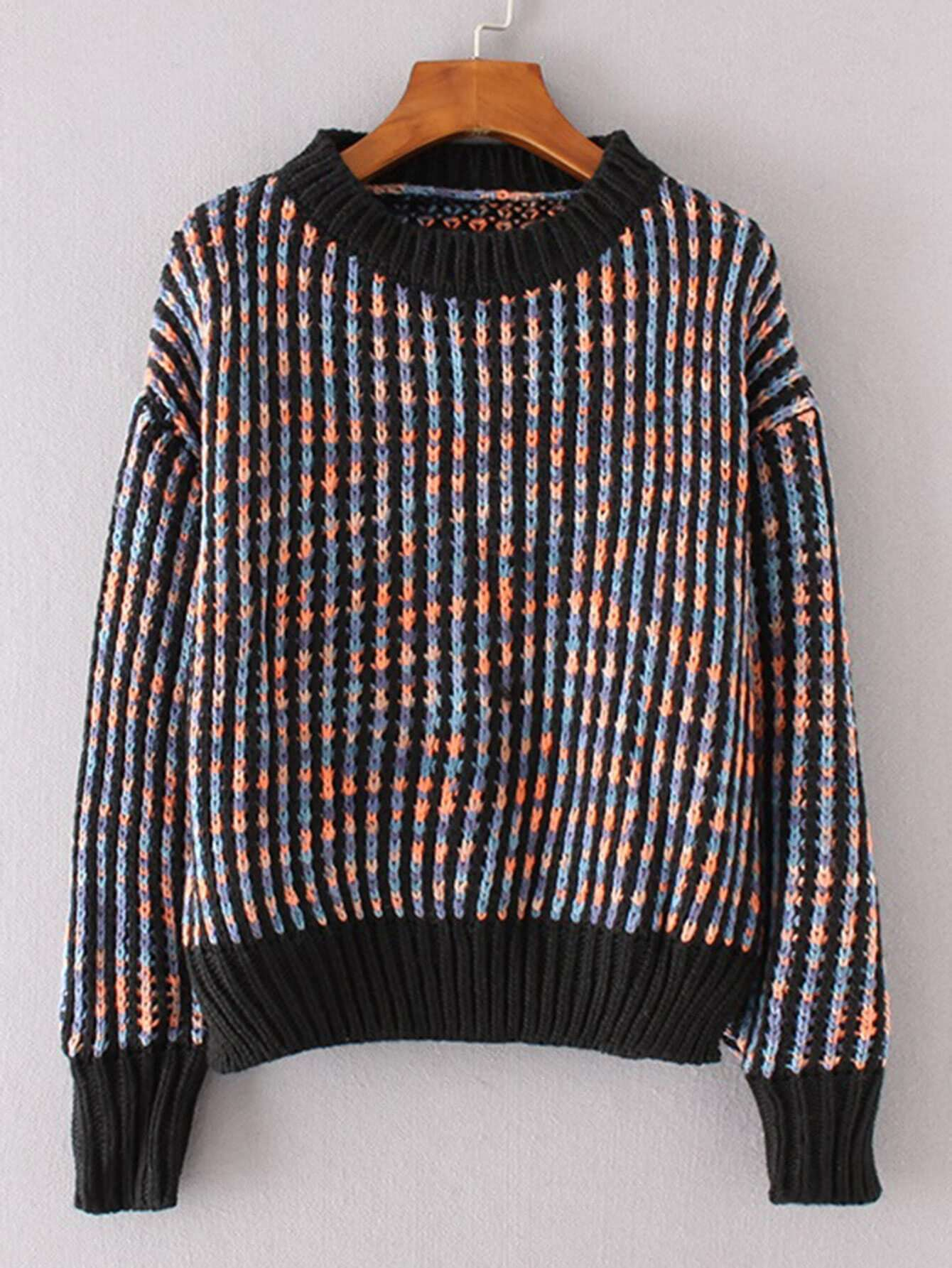 Contrast Trim Jumper Sweater sweater170914206