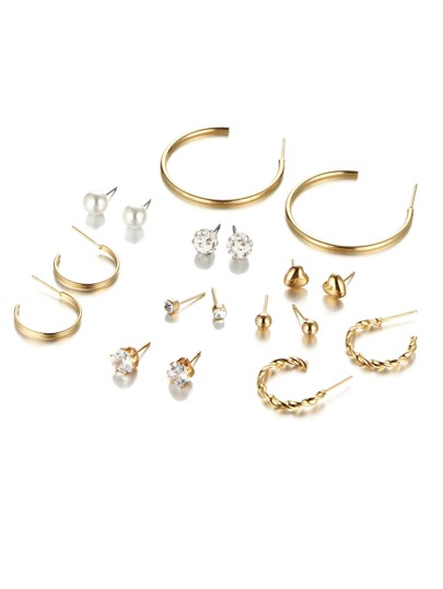 Ohrring Set mit Strass Design