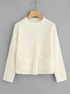 Dual Pocket Front Solid Jumper