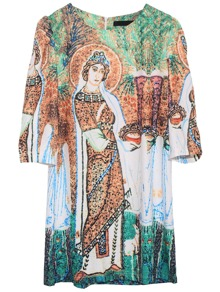Art Digital Print Dress