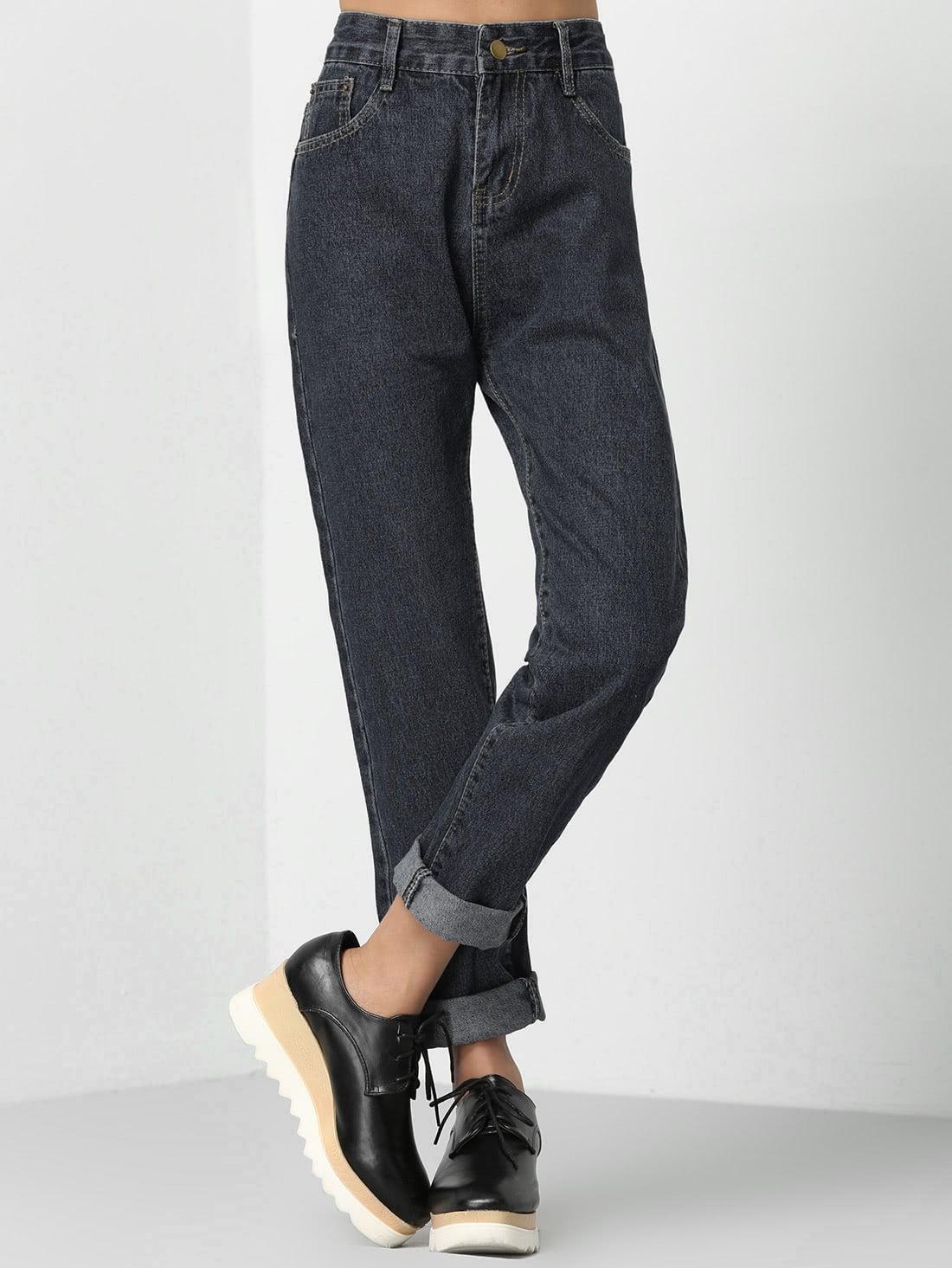 Roll Cuff Boyfriend Jeans