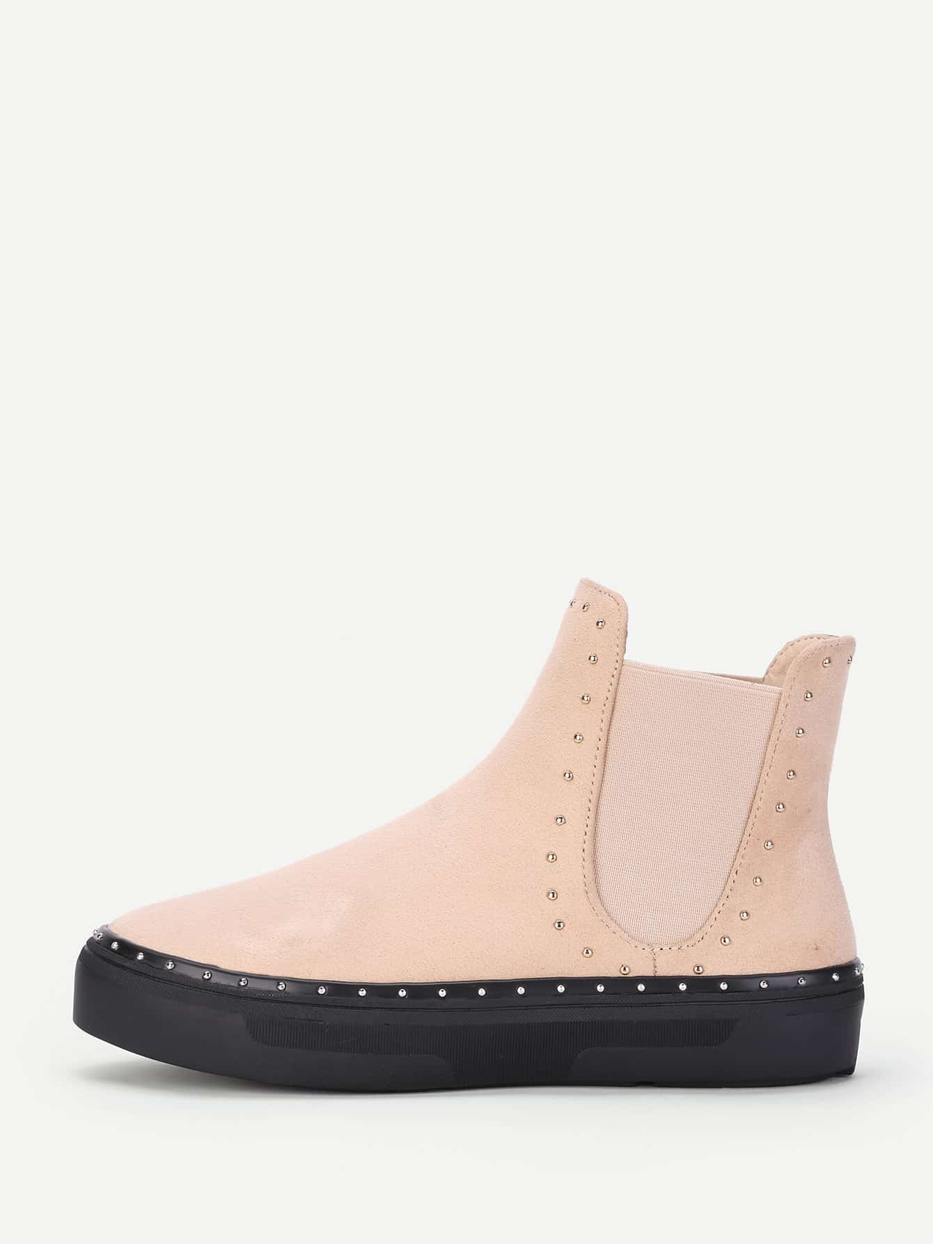 Studded Detail Flatform Chelsea Boots heeled chelsea boots