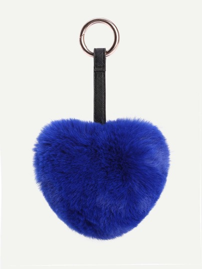 Heart Shaped Faux Fur Bag Accessories