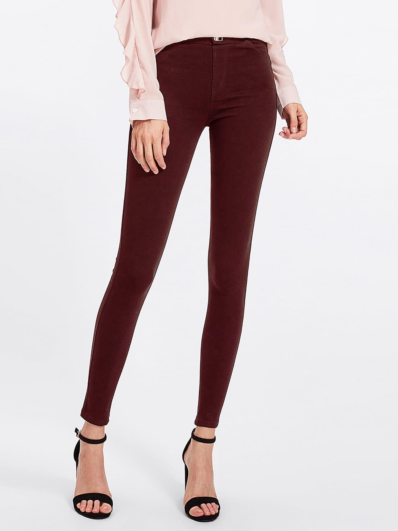 Wine Skinny Jeans