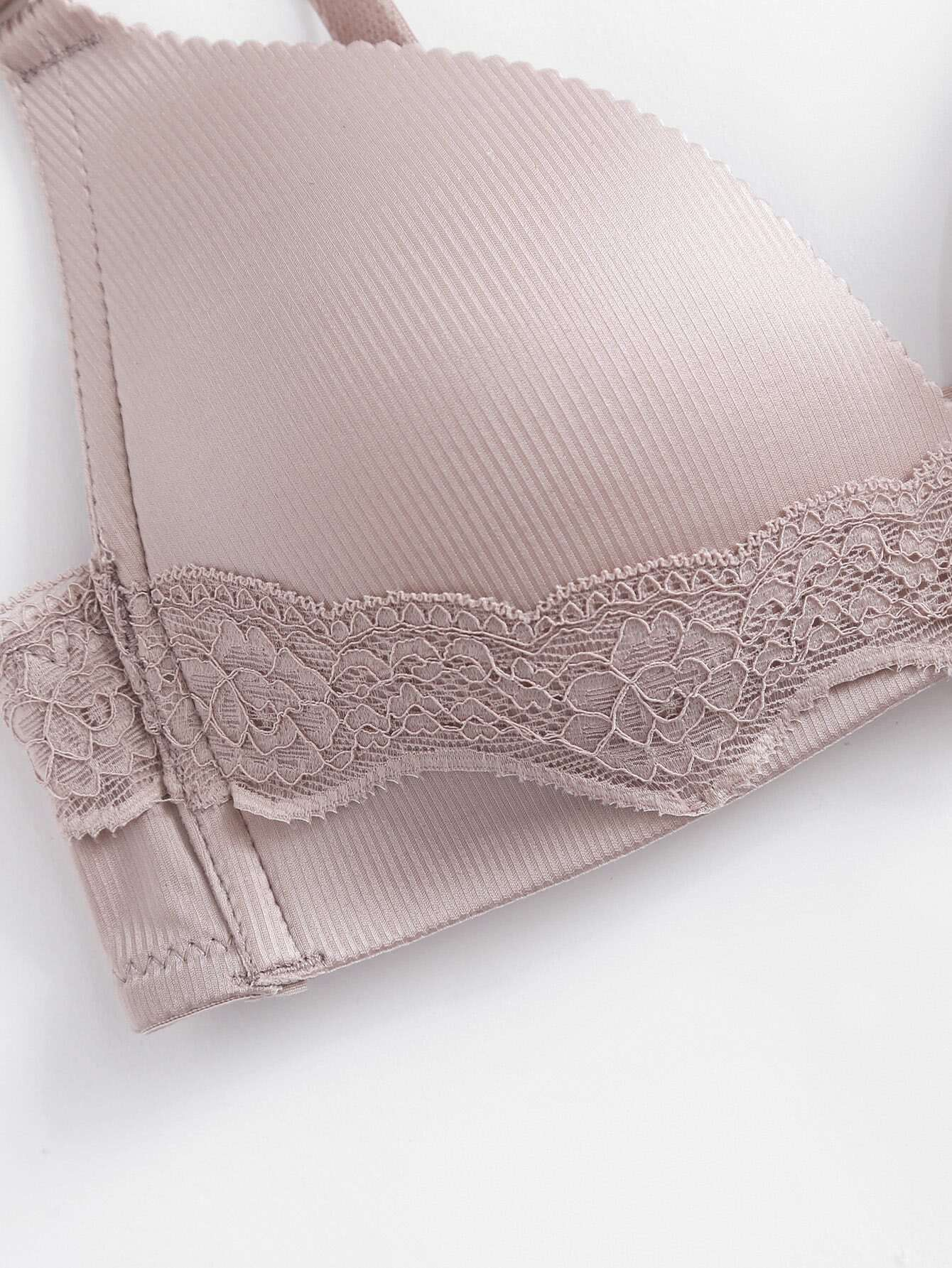 Lace Trim Adjustable Straps Bra