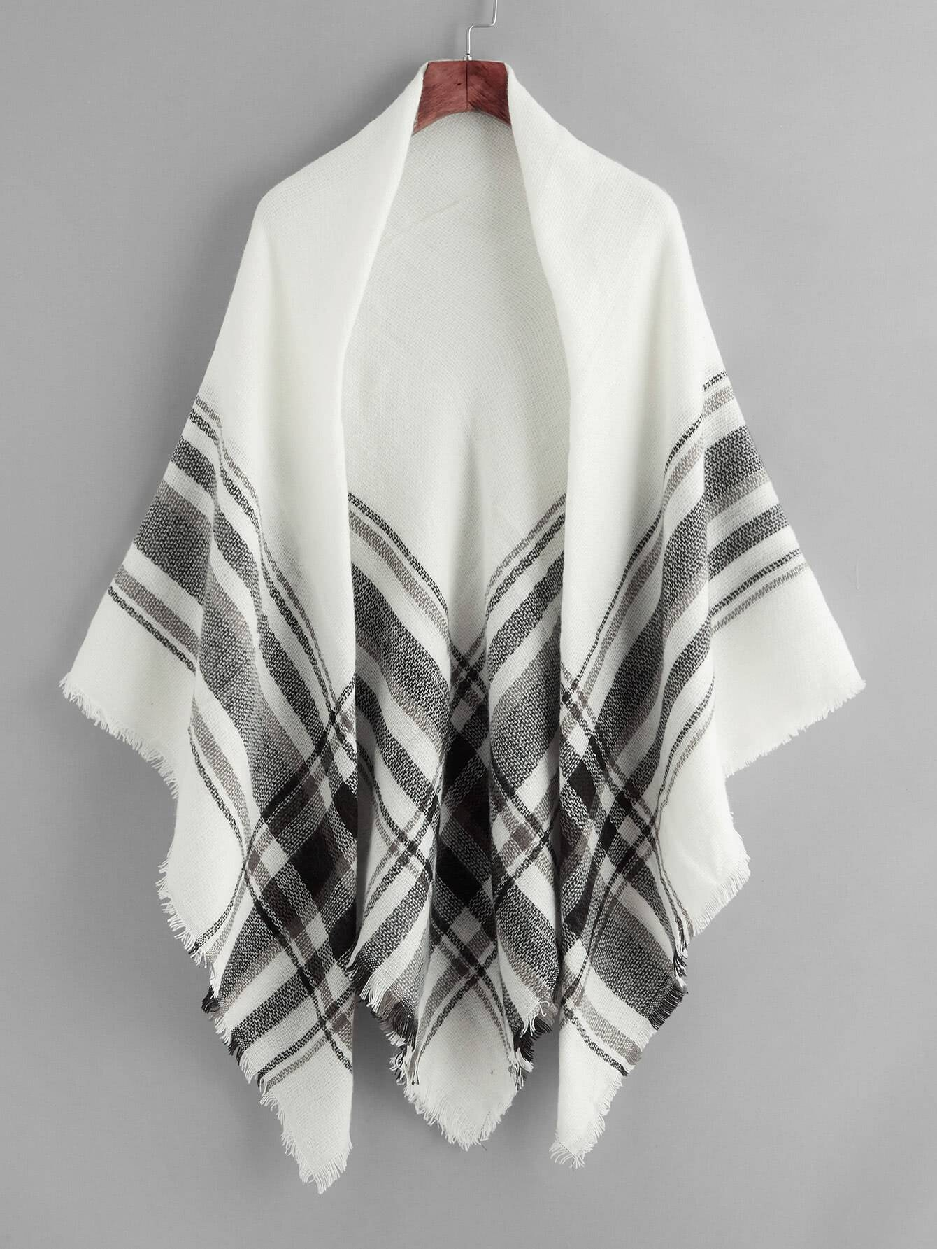 Two Tone Gingham Print Scarf two tone letter print t shirt