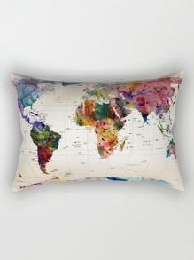 Kissenbezug mit Landkartemuster