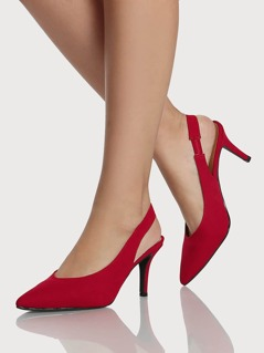 Sling Back Pump Heels RED