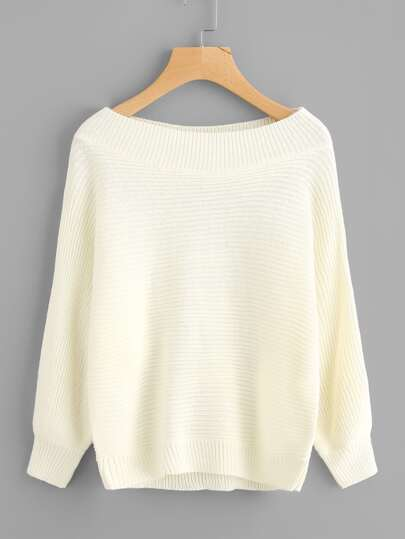 Boat Shoulder Knit Sweater