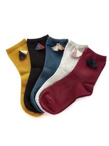 Tassel Detail Ankle Socks 5pairs