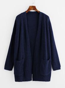 Pull manteau manche raglan avec double poches