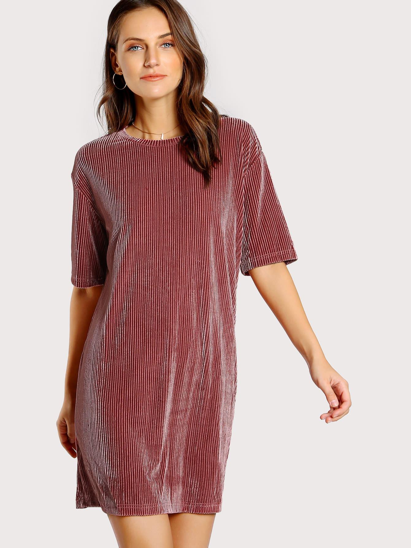 Ribbed Velvet Tee Dress все цены