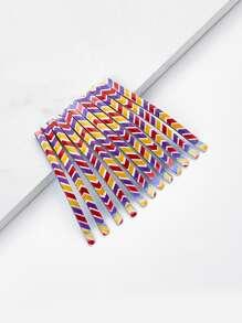 Color Block Hair Clip 12pcs