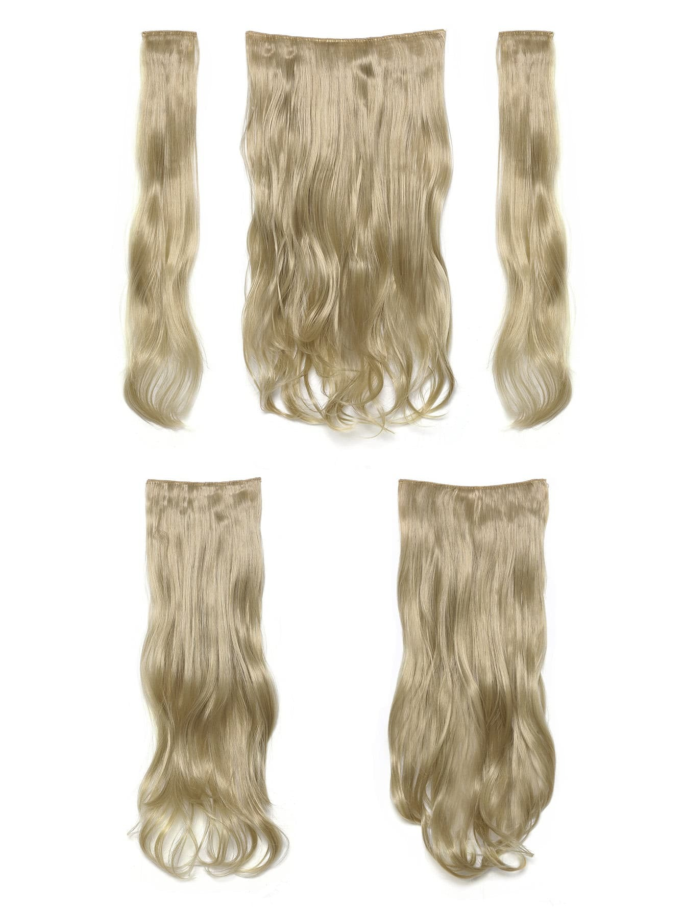 Light Golden Blonde Clip In Soft Wave Hair Extension 5pcs