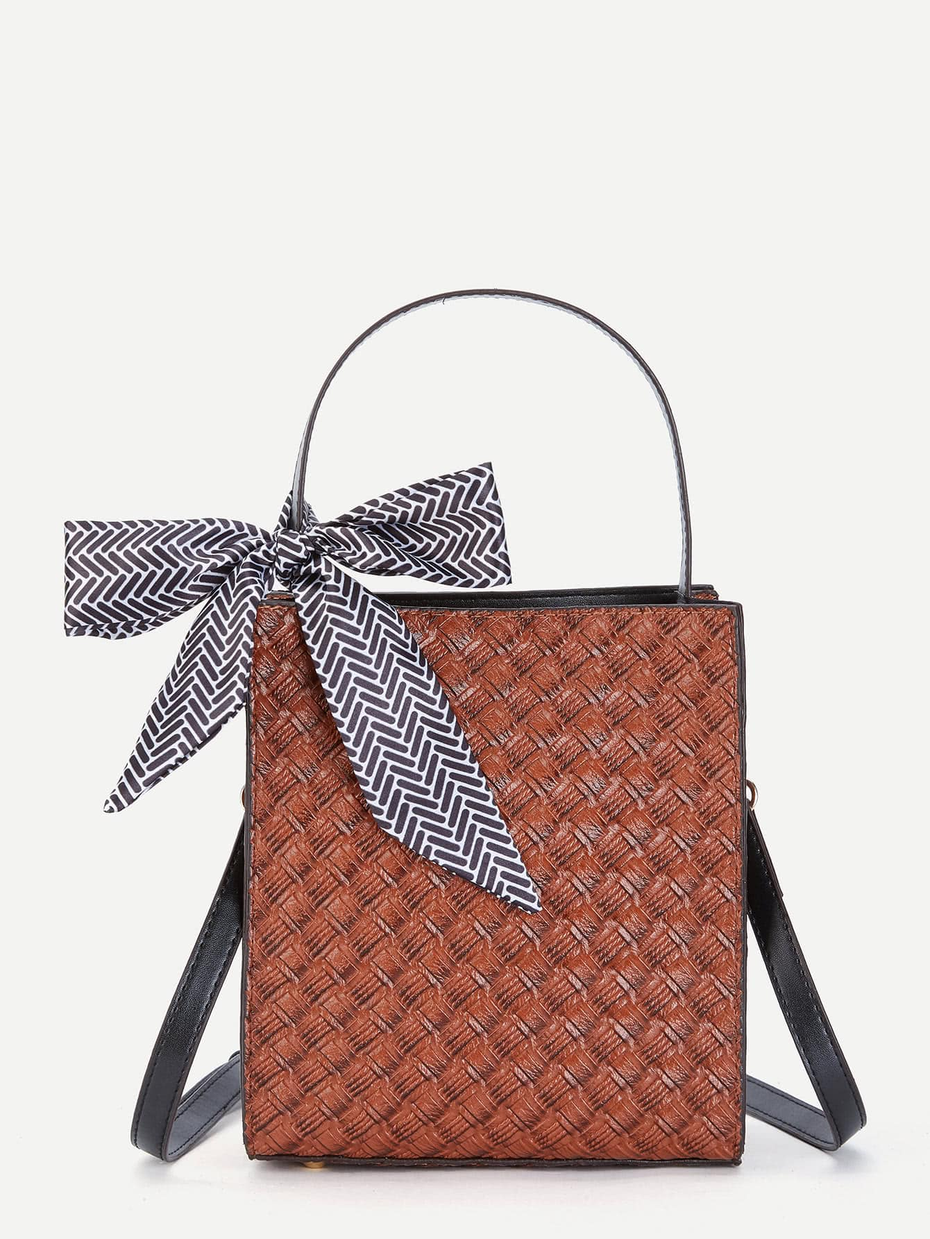 Bow Tie Decorated PU Shoulder Bag