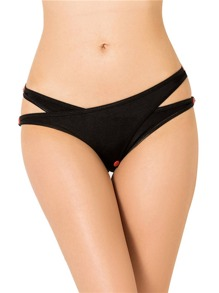 Stud Detail Crotchless Panty