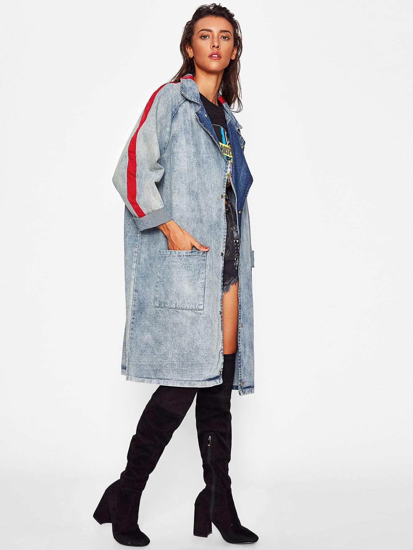 Модная джинсовая куртка с принтом | SheIn