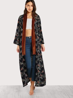 Open Front Longline Duster Coat
