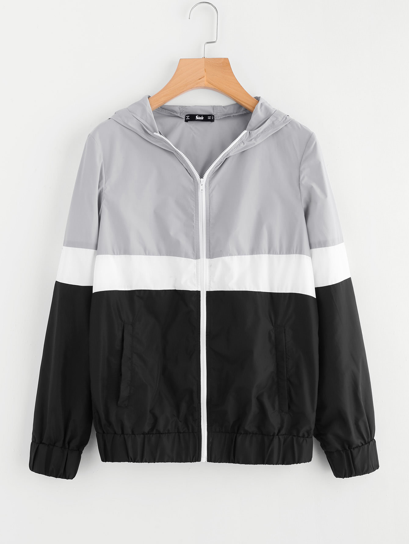 цены Cut And Sew Hoodie Windbreaker Jacket