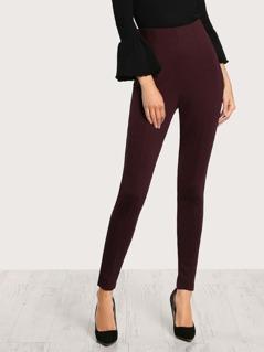 High Waist Skinny Pants PLUM
