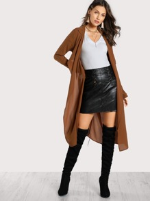 Sheer Collared Coat CAMEL