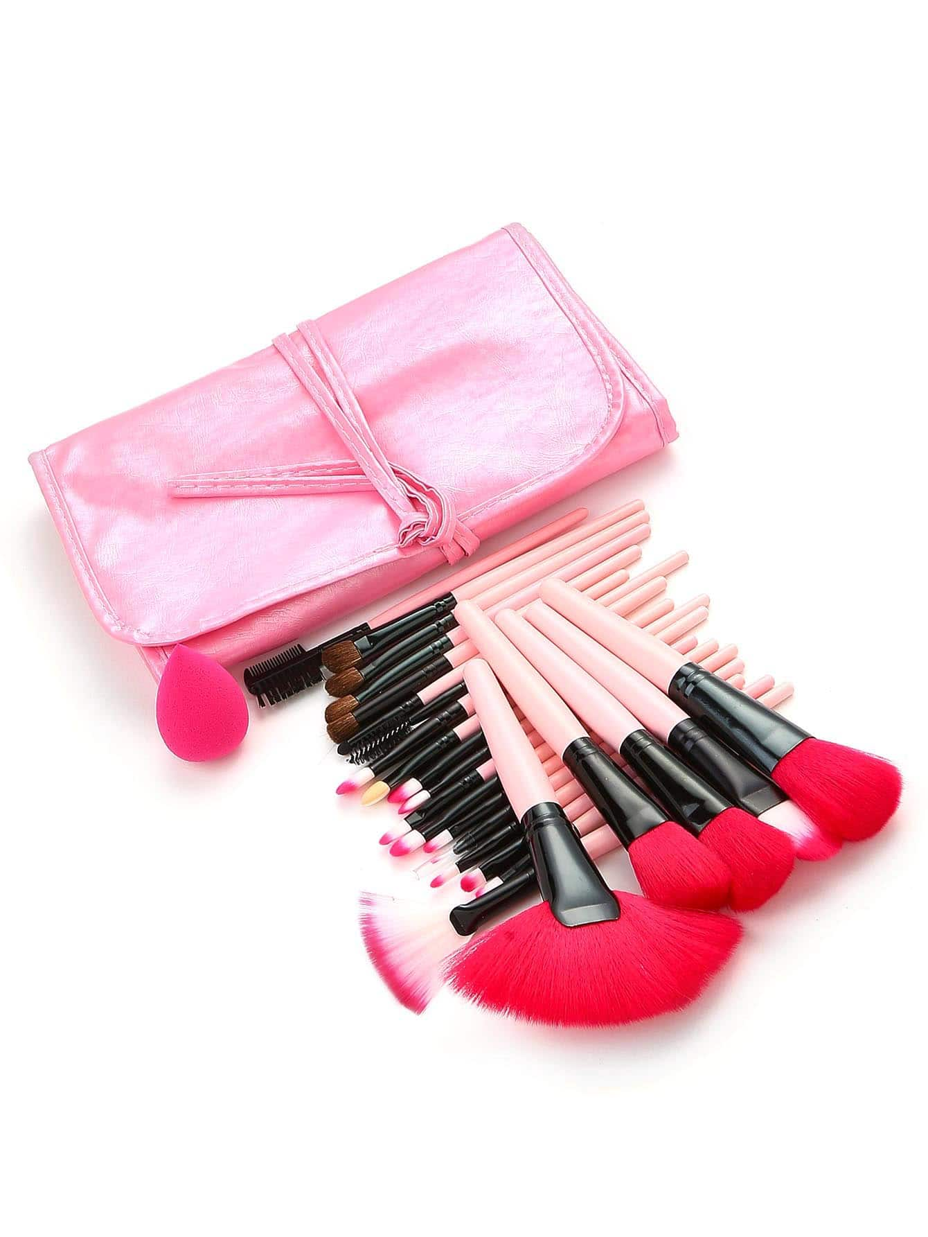Professional Makeup Brush 24pcs With PU Bag sinle 24pcs set professional makeup brush foundation eye shadows lipsticks powder make up brushes tools w bag pincel maquiagem