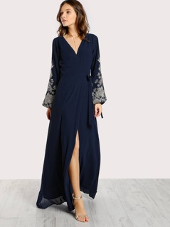 Floral Stitched Maxi Dress MIDNIGHT