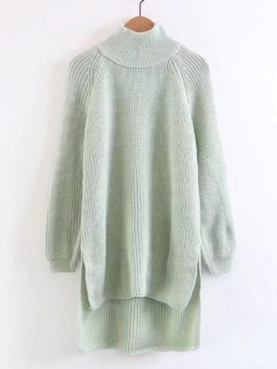 Raglan Sleeve High Low Sweater