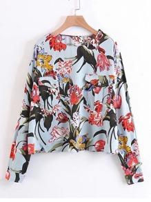 Модная блуза с принтом