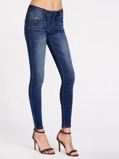 Bleach Wash Super Skinny Jeans