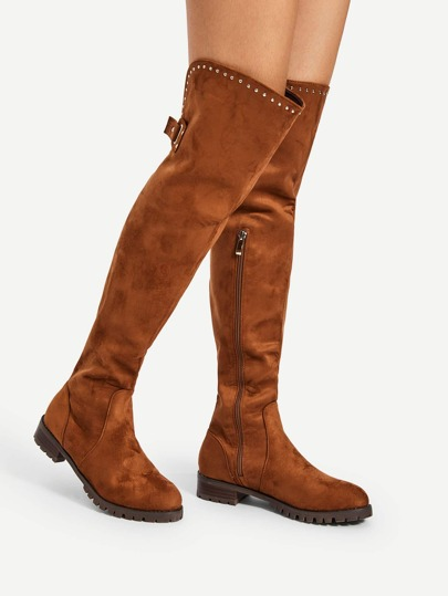 Buckle Back Over The The Knee Boots