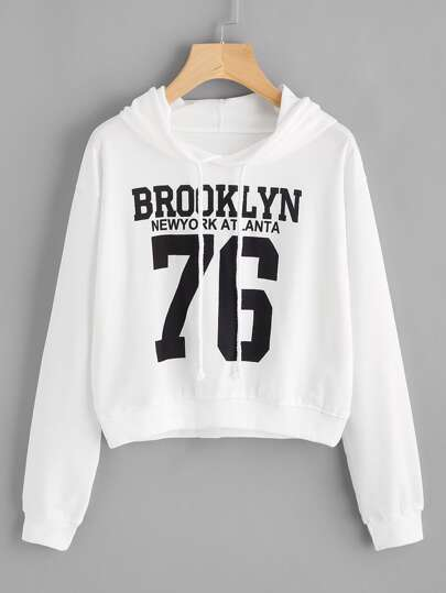 Number Print Sweatshirt