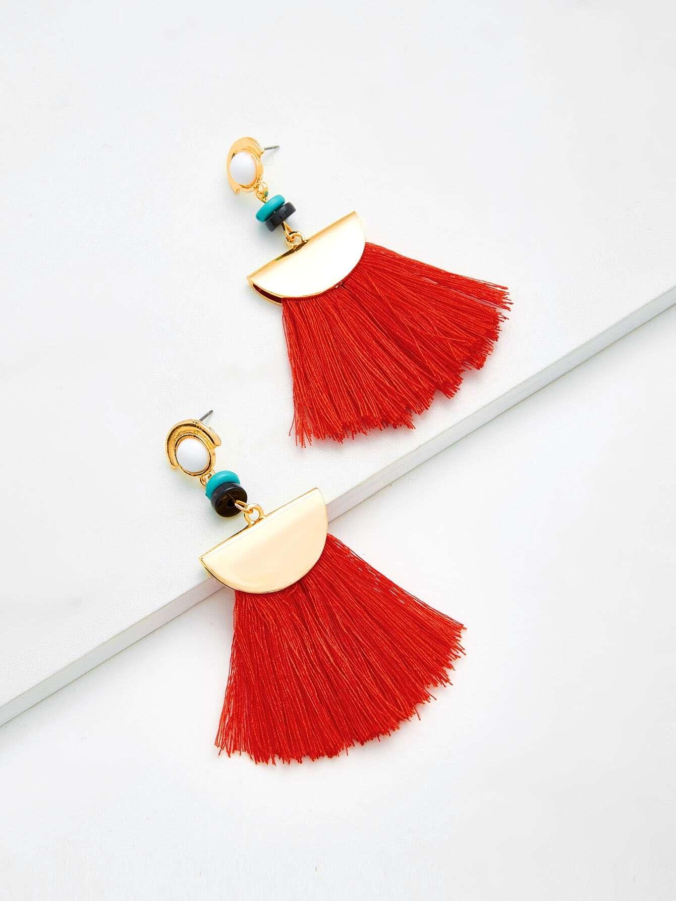 все цены на Fringe Tassel Drop Earrings
