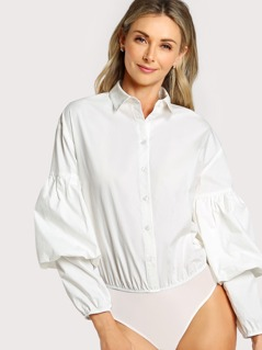 Bishop Sleeve Shirt Bodysuit
