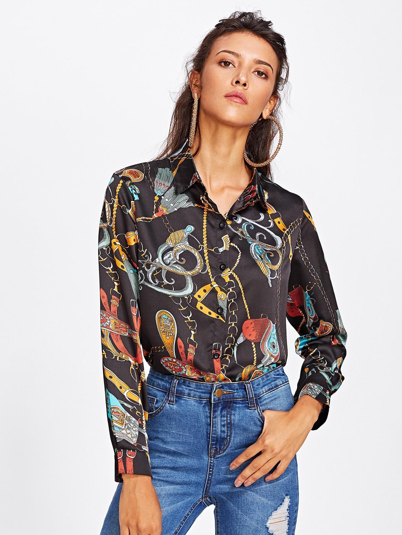 Rope Allover Print Shirt