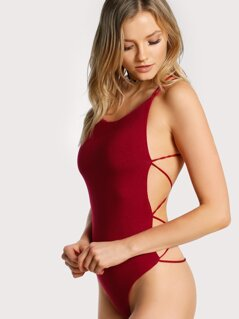 Strappy Backless Bodysuit