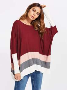 Top extragrande en color block