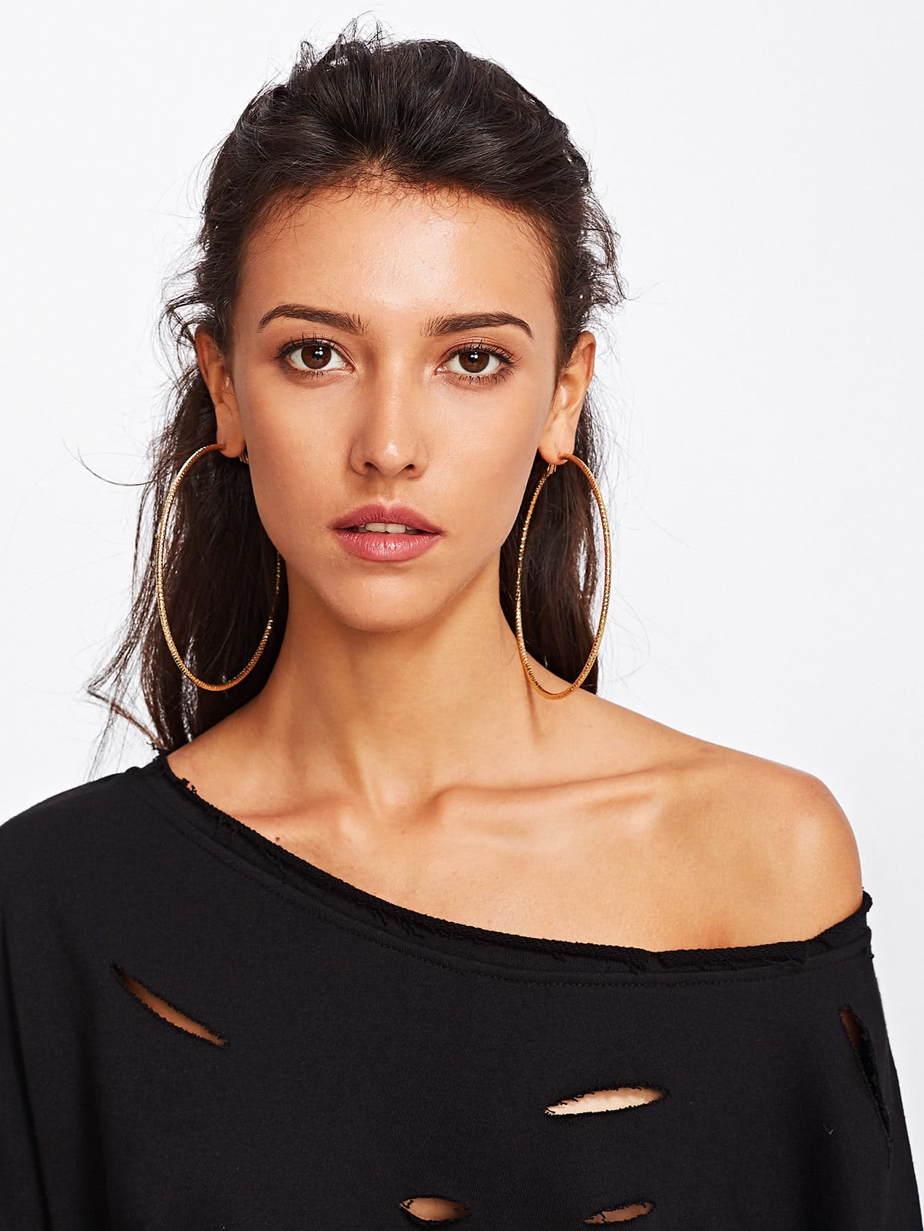 Oversized Hoop Earrings EmmaCloth-Women Fast Fashion Online
